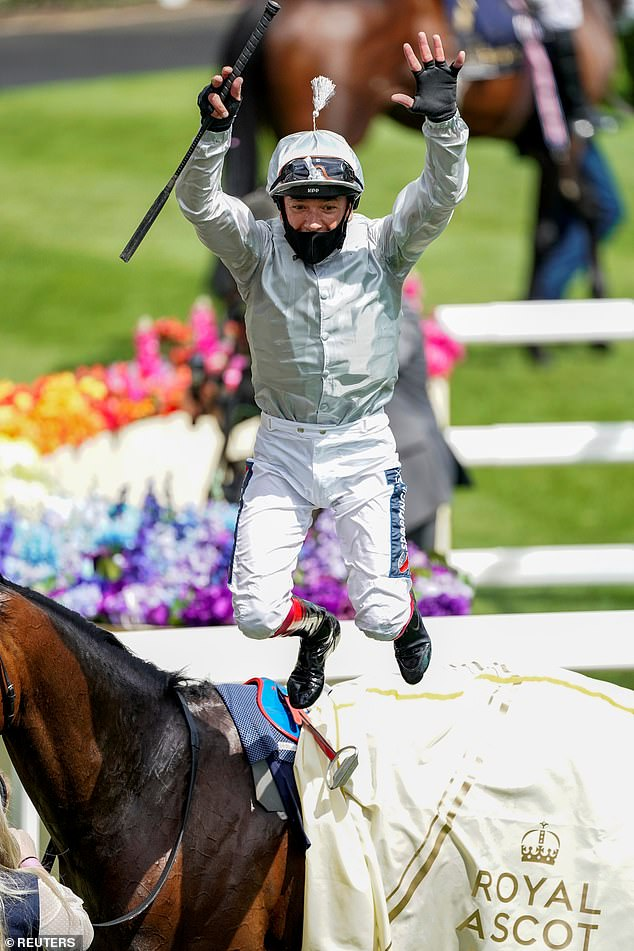 Dettori retains title as Royal Ascot's top jockey with150-1 treble, including two Group Ones