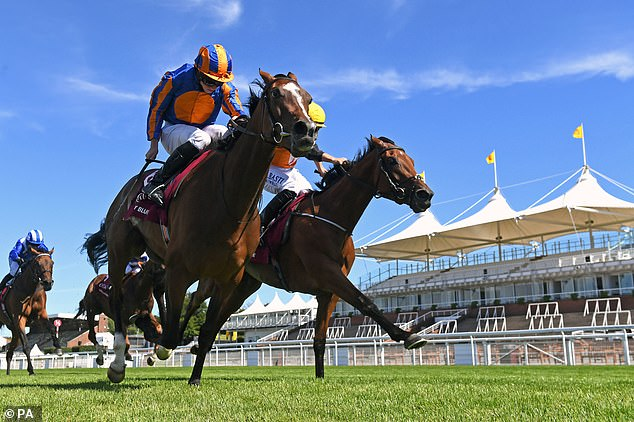 Donnacha O'Brien upstages dad Aidan by landing the Nassau Stakes with Fancy Blue atGoodwood