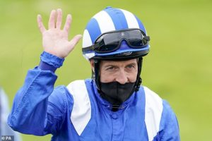 Jockey Jim Crowley reaches career milestone as he secures 2,000th win aboard Modmin at Goodwood