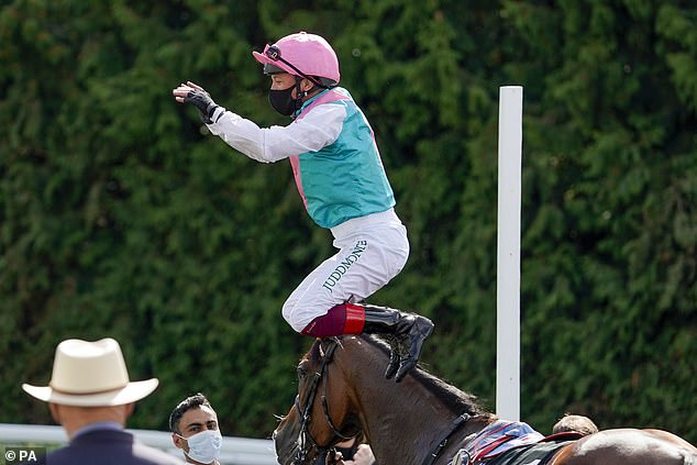 Frankie Dettori's Enable secures bloodless seven-length win in the Unibet September Stakes
