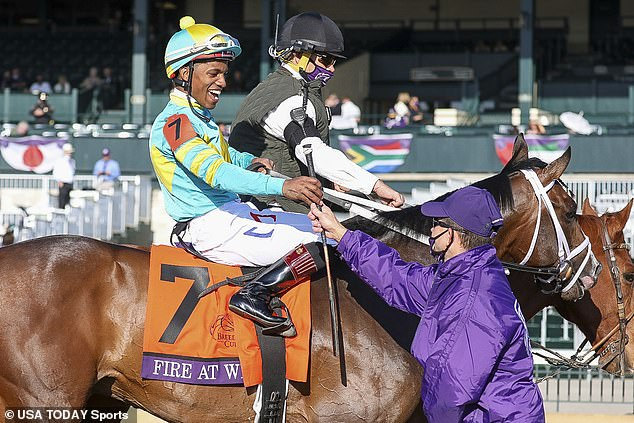 Pre-race favourite Battleground finished second behind Fire At Will in the Breeders' Cup