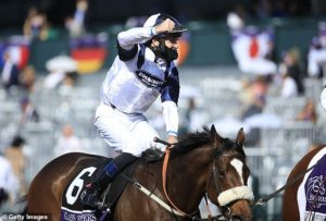 Tom Eaves thanked colleague Ryan Moore for his advice after Glass Slippers victory at Breeders Cup
